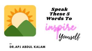 Speak These 5 Words To 2